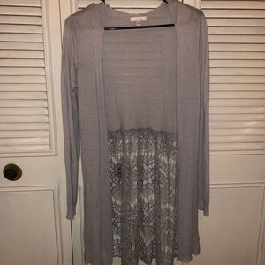 Gray Lauren Conrad Cardigan